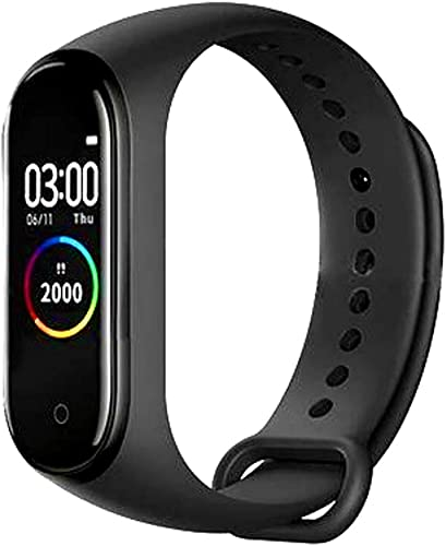 SBA VA 250808 M4 Smart Health Band Immunity Activity BP Heart Rate Sleep Calorie Tracker Stop Watch Social Media Messages For Men Women Boys Girls Android Ios Mobile