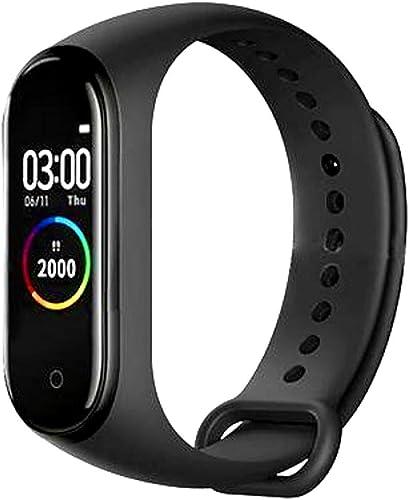SBA VA 250808 M4 Smart Health Band Immunity Activity BP Heart Rate Sleep Calorie Tracker Stop Watch Social Media Messages for Men Women Boys Girls Android iOS Mobile