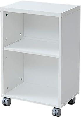 [山善] デスクワゴン 幅45×奥行30×高さ72cm 北欧 袖机 棚板高さ調節可 組立品 ホワイト NOP-4530(WH) 【Amazon.co.jp限定】