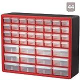 Akro-Mils 44 Drawer 10144REDBLK, Plastic Parts Storage Hardware and Craft Cabinet, (20-Inch x 6-Inch...