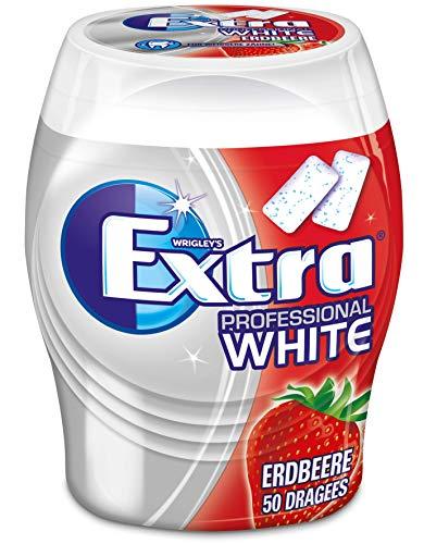 Extra Kaugummi | Professional White Erdbeere | Zuckerfrei | Eine Dose (1 x 50 Dragees)