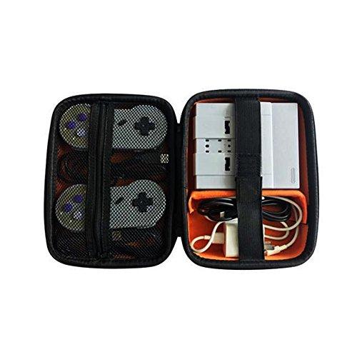 ElementDigital SNES Mini Carrying Case SNES Classic Mini Edition Portable Hard Travel Case Bag for Nintendo Super NES Classic Mini Console 2 Controllers