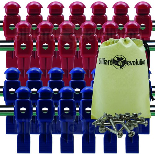 Billiard Evolution 26 Red and Blue Dynamo Foosball Men with...