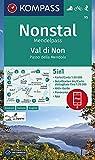 KOMPASS Wanderkarte Nonstal, Mendelpass, Val di Non, Passo della Mendola: 5in1 Wanderkarte 1:50000 mit Aktiv Guide, Detailkarten und Panorama ... in der KOMPASS-App. Fahrradfahren. Skitouren.