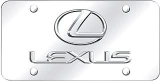 Au-Tomotive Gold, INC. Lexus 3D Logo and Name Chrome Steel License Plate