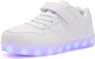 6f15690c ByBetty LED con Luces Zapatillas de Deporte Luz Brillante USB 7 Colores  Zapatos para niños Parpadeante