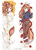 Holo Spice and Wolf Body Pillow Cover Peach Skin 160x50cm Pillowcases