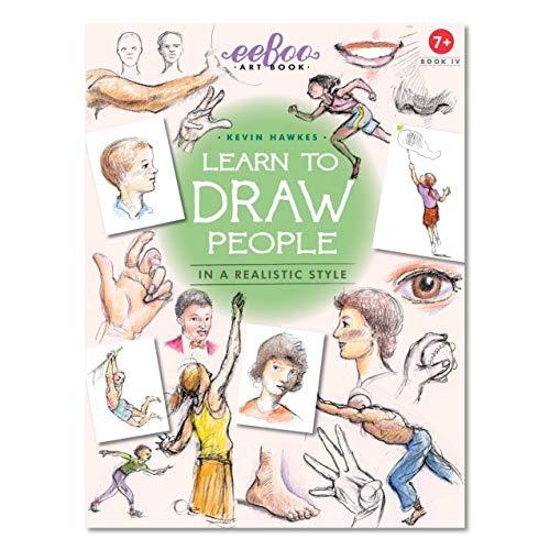 eeBoo Aprenda a desenhar pessoas para crianças, livro de arte 4