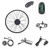 Schuck Kit de conversión de Bicicleta eléctrica,36V 500W Motor, Kit de conversión de Motor de Bicicleta E-Bike de 24 Pulgadas Pantalla LCD6