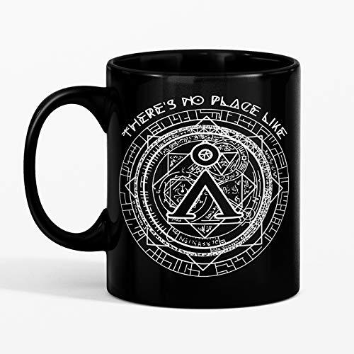 SAYOMEN - Sci-Fi Stargate SG1 Stargate Atlantis Fantasy Geeky Gift Sci Fi Gift - No Place Like Home - Ceramic Coffee Mug Black/White 11oz 15oz, MUG 11oz