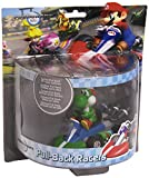 Nintendo Mario Kart - Coche de Carreras de Yoshi (12 cm) - Figura Coche retrofriccion Yoshi (12cm)