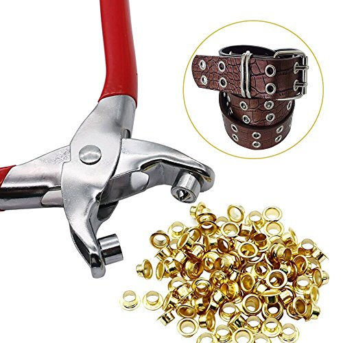 N2 30 Eyelets Grommet Pliers Eyelets Set for DIY Shoes Clothes Manual Tools Kit
