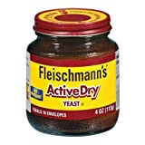 Fleischmann's Active Dry Yeast, The original active dry yeast, Equals 16 Envelopes, 4 oz Jar (Pack...