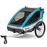 Qeridoo Sportrex2 Basic Kids Bike Trailer - Aquamar