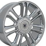 OE Wheels LLC 22 Inch Fits Chevy Silverado Tahoe GMC Sierra Yukon Cadillac Escalade CA83 Chrome 22x9 Rim Hollander 5358