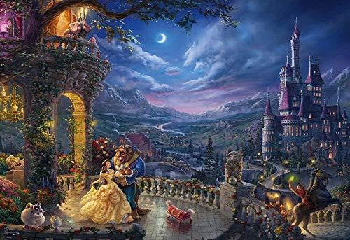Disney La bella y la bestia, Moonlight Dance, 1000 piezas, 50X75 cm, Rompecabezas de Disney para adultos 1000 piezas