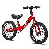 Bueuwe Kinder Laufrad Lauflernrad Kinderrad Mit Sitzlift Und Bremse,Sport Kinderlaufrad Rahmen Aus Kohlenstoffstahl,Für Jungen Und Mädchen Ab 3-7 Jahre,Rot