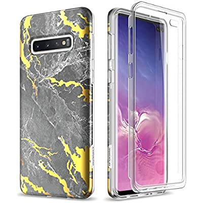 SURITCH for Samsung S10 Plus Case with Built-in Screen Protector Front and Back 360 Degree Full Body Protection Cover Bumper Shockproof Non Slip Case for Samsung Galaxy S10 Rose Gold