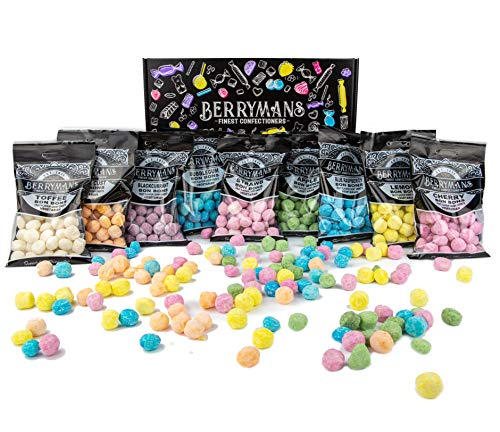 Original BonBons Favourites Selection Gift Box Hamper Retro Sweets by Berrymans Sweet Shop - Classic Sweets, Traditional Taste.