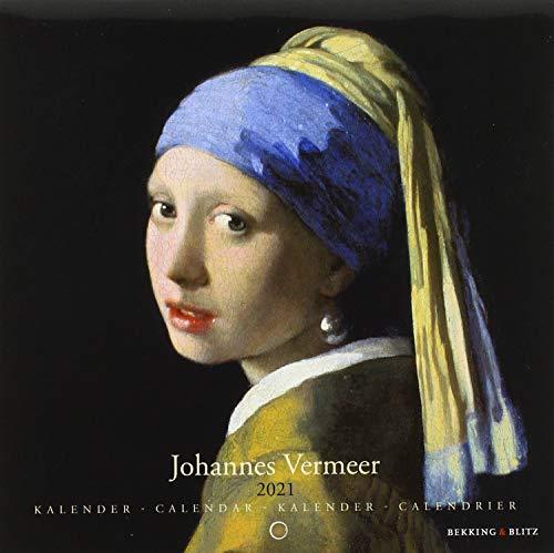 2021年 スモールカレンダー「VERMEER/フェルメール」 壁掛け 画家 風景 アート スケジュール 英語 オランダ語 輸入雑貨( KA21340)