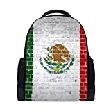 Student Backpacks College School Book Bag Travel Hiking Camping Daypack for Boy for Girl   16.1'x11'x6'   Holds 15.4-Inch Laptop(Colorful Mexican Flag)