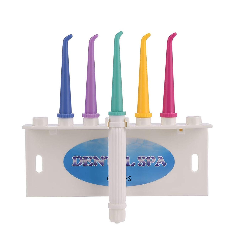 収容するしたがって芝生ジェットウォッシャー 口腔洗浄器 歯間クリーナー 水圧洗浄 電気不要 替えノズル5本付属 蛇口直結型 洗浄器