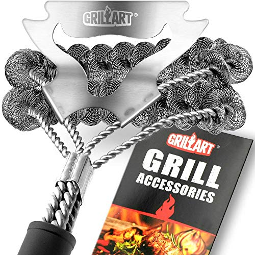 Top grill brush non-metal for 2020