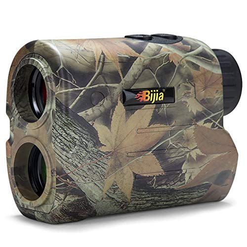 BIJIA Hunting Rangefinder-6X 650/1200Yards Multifunction Laser Rangefinder for Hunting,Shooting, Golf,Camping with Slope Correction,Flag-Locking with Vibration,Speed,Angle,Scan,Distance (650Yards)