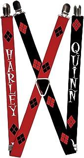 Buckle-Down Suspenders-Harley/Diamonds Red/Black/White + Quinn/Diamon