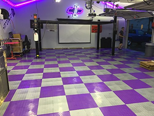 Speedway Garage Tile 789453P-50 Diamond Garage Floor 6 LOCK Diamond Tile 50 Pack, Purple