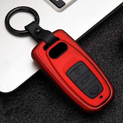 XLTWKK Cubierta de la Llave del Coche ABS + Silicona, para Audi Q3 Q5 Sline A3 A5 A6 C5 A4 B6 B7 B8 TT 80 S6 C6
