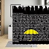 Cortinas de Ducha Baño Paraguas de día lluvioso Impermeable Lavable antimoho antibacteriana para Cuarto de baño y bañera 180x180 cm