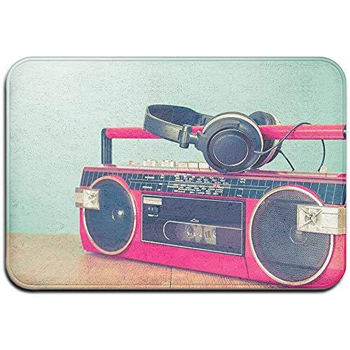 MHKG Fußabtreter Door Mat Outside 15.7 X23.6 Inch,Indoor Front Door Mat,Door Mats Inside,Non-Slip Washable Doormat Retro Ghetto Blaster Cassette Awesome