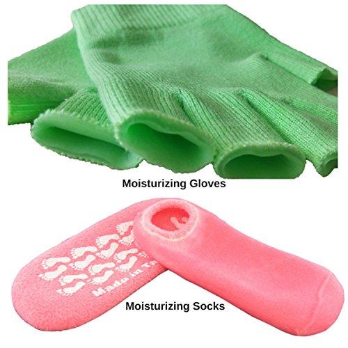 Kilimanjaro's Gel Socks and Moisturizing Gloves Combo Perfect Socks for Moisturizing Dry Feet Hand Gloves for Smooth Hands (Socks HF Gloves)