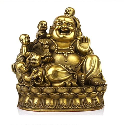 LSWKG Bouddha Bouddha Rieur aux 5 Enfants - Joie et Bonheur