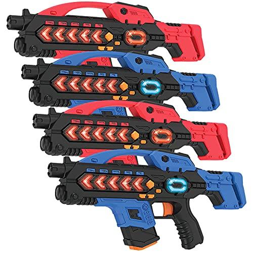 Lasergame set met 4 lasergeweren - KidsFun Plus lasergame geweren met veel extras