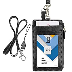 520922fbdec7d The Wisdompro 2-sided Badge holder has a transparent window on one side for  ID card and has multiple slot on the other side. The badge holder has a  zipper ...