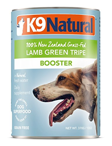 K9 Natural BPA-Free & Gelatin-Free Canned Dog Food Supplement Booster, Lamb Green Tripe 13oz 12 Pack