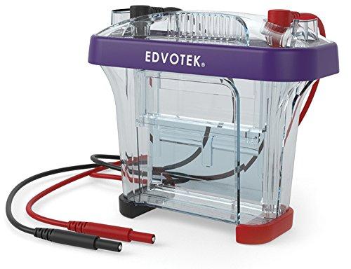 Edvotek MV10 Vertical Electrophoresis Apparatus, Holds 9cm x 10cm Gel Cassette