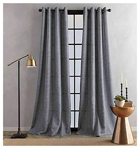 Bedeck Juma Solid 84-Inch Grommet Window Curtain Panel in Grey