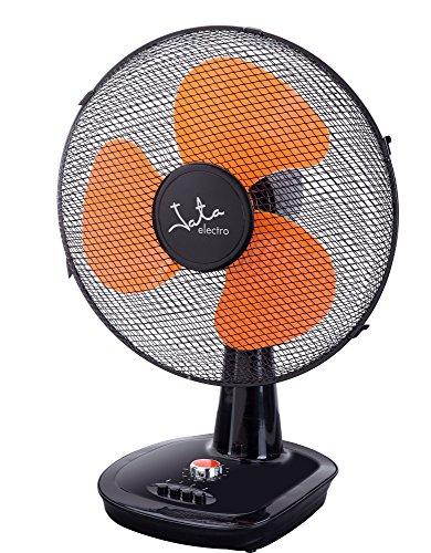 Jata VM3022 Ventilador de Mesa con Temporizador de 120 Minutos, 40 W, Aluminio, Negro y Naranja