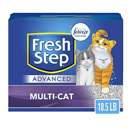 Fresh Step Advanced Multi-Cat Clumping Cat Litter with Odor Control - 18.5 LB