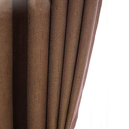 PENVEAT Hohe Shading Bettwäsche Verdunkelungsvorhänge für Wohnzimmer Moderne Baumwolle Schlafzimmer Fenster Vorhänge Jalousie, YS06, W 250cm x H 270cm, Haken Oben