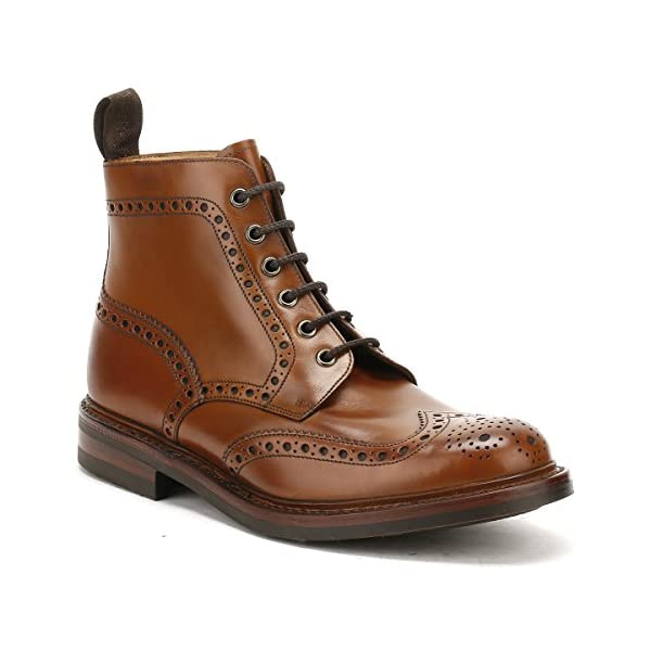 Loake Mens Burnished Calf Bedale Leather Brown Boots