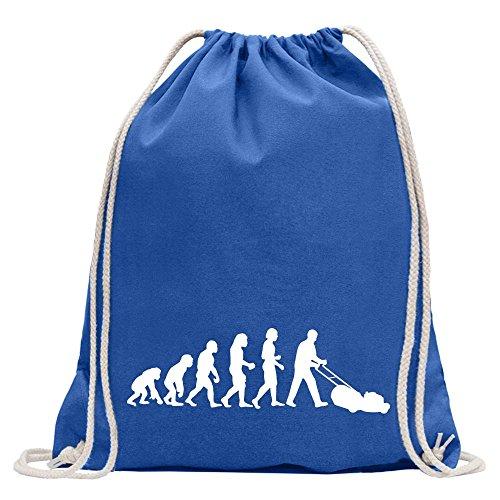 Kiwistar Cortacésped Evolution Divertida Mochila Deportiva para el Fitness. Gymbag para la Compra de algodón con cordón