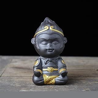 瞑想、オフィス、寝室5 * 5 * 9cmのための東洋の仏「気天大盛日武香港」像装飾
