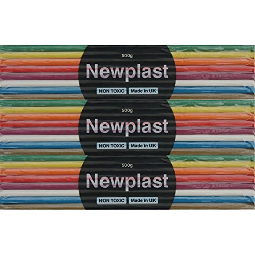 Newplast Rainbow Coloured Block of Clay (500g)
