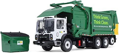 First Gear 1/34 Scale Diecast Collectible Waste Management Mack TerraPro with CNG Front Loader with Trash Bin (#10-4006)