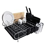 Tahlegy Profesional Above Counter Large Capacity Dish Drying Rack,with Draining Board