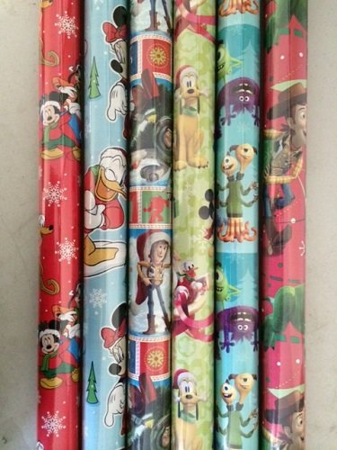 4 PACK: PIXAR & DISNEY ASSORTED BOY XMAS WRAPPING PAPER